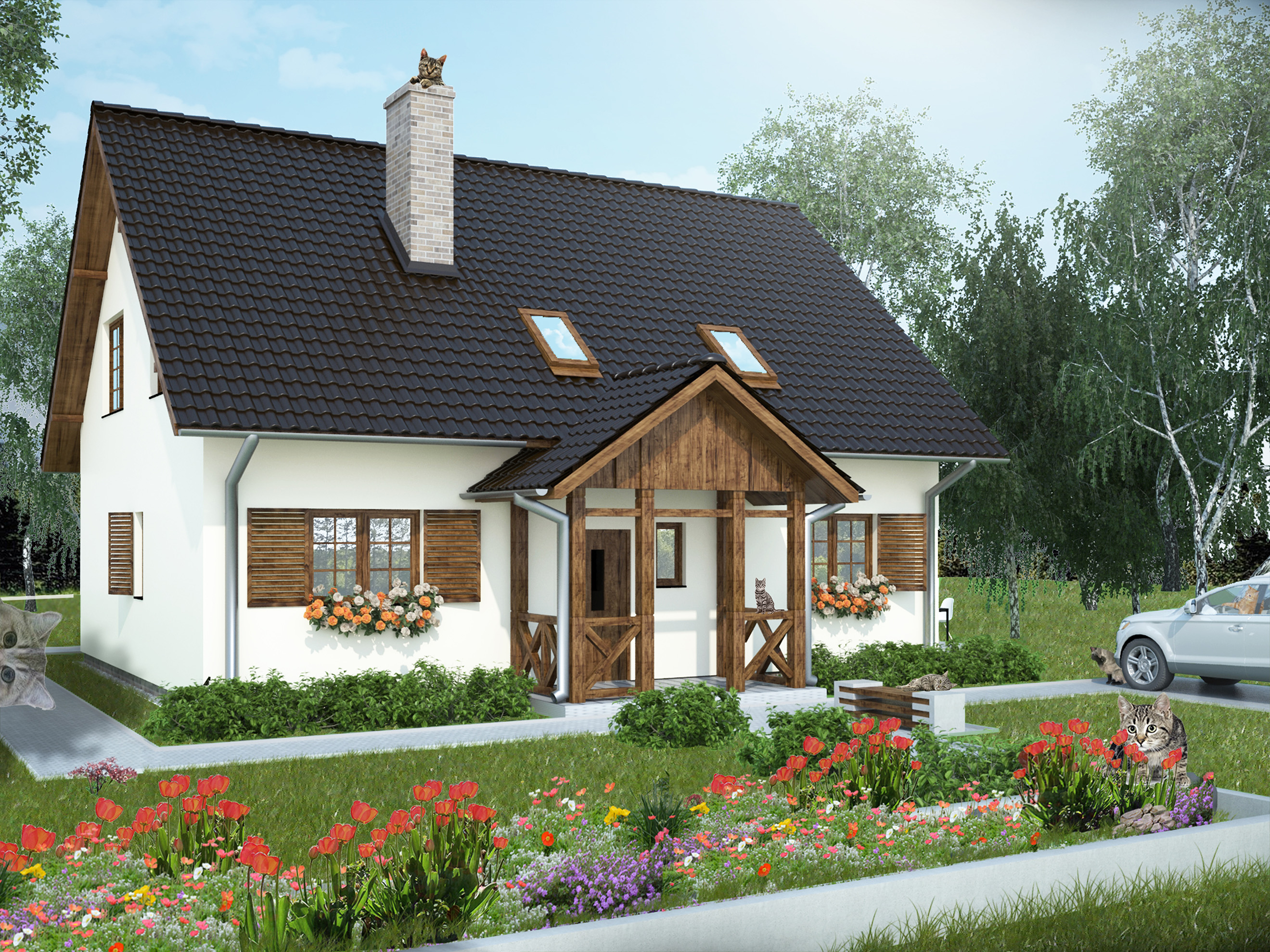 Wiejski domek